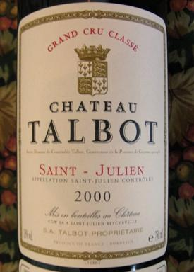Chateau Talbot label